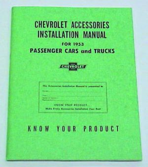 1953 Accessory Installation Manual