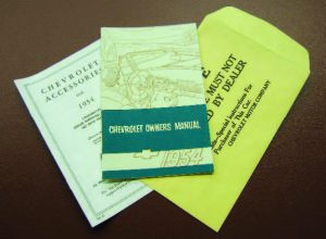 1954 Owners Manual Set