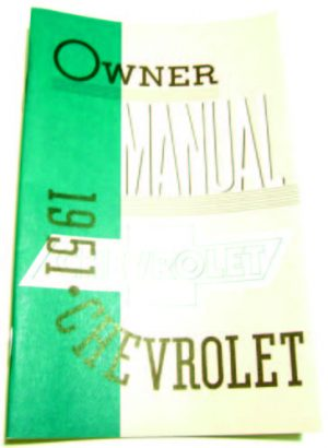 1951 Chevy Owners Manual