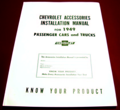 1949 Chevy Accessory Installation Manual