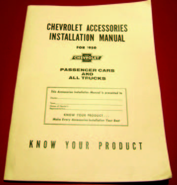 1950 Chevy Accessory Installation Manual